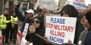 Myanmar Dışişleri Bakanı Londra'da protesto edildi