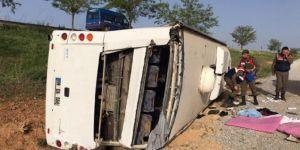 Konya'da yolcu otobüsü devrildi: 40 yaralı