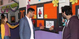 Köy öğrencilerinden resim sergisi