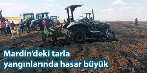 Mardin Derik'teki tarla yangınlarında hasar büyük