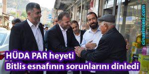 HÜDA PAR heyeti Bitlis esnafının sorunlarını dinledi