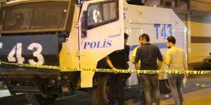 Diyarbakır Bağlar Emek Caddesi'nde TOMA'ya bombalı saldırı