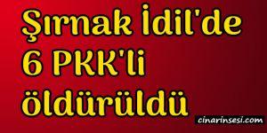 Şırnak İdil'de 6 PKK'li öldürüldü