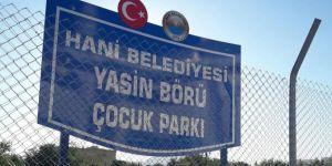 Diyarbakır Hani'de Yasin Börü parkı açıldı foto