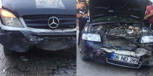 Diyarbakır Ergani'de maddi hasarlı trafik kazası