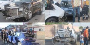 Diyarbakır Bağlar'da zincirleme kaza: 4 yaralı