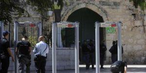 Metal detectors at the entrance of Masjid al-Aqsa
