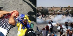 Zionists attacked Palestinians gathered for Masjid al-Aqsa