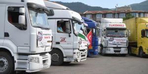 Bursa'dan Suriye'ye 9 TIR yardım malzemesi gönderildi