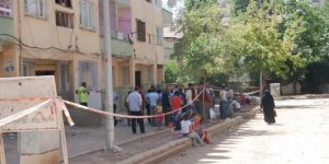 Diyarbakır Şehitlikte çöken bina nedeniyle 4 apartman boşaltıldı