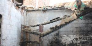 Bismil'in Esentepe Mahallesinde evi yanan aile yardım bekliyor