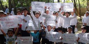 Silvan'da namaz eğitimini tamamlayan çocuklar etkinlikte buluştu