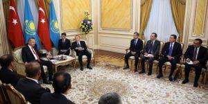 Cumhurbaşkanı Erdoğan Kazakistan Akorda Sarayı'nda