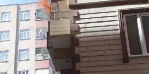 Diyarbakır Huzurevlerinde apartmanda çıkan yangın paniğe neden oldu video foto
