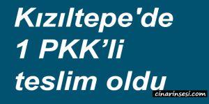 Mardin Kızıltepe'de 1 PKK'li teslim oldu