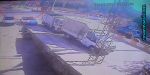 Çınar Dörtyol kavşağındaki kazanın güvenlik kamera görüntüleri