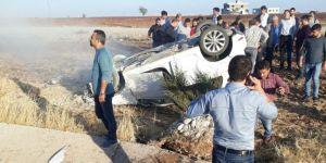 Adıyaman-Kahta Karayolunda otomobil takla attı: 2 yaralı