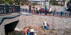 Van Büyükşehir Belediyesi derelerde temizlik başlattı