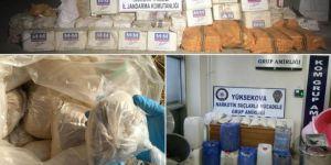 Hakkâri Yüksekova'da kaçak sigara ve eroin ele geçirildi