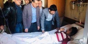 Trafik kazasında yaralanan öğrencilere moral ziyareti