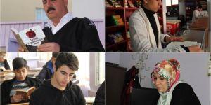 Diyarbakır'daki bir lisede herkes aynı anda kitap okuyor