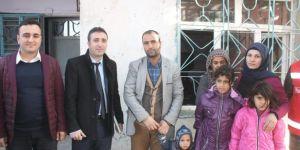 Bismil'de mağdur aileye Sosyal Hizmelerden destek