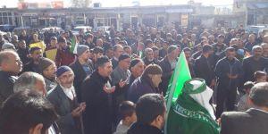 Diyarbakır Hani'de Kudüs için miting havasında basın açıklaması