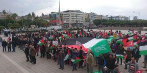 """İskenderun'da """"Kudüs İslamındır"""" yürüyüşü"""