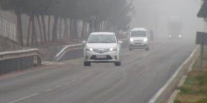 Çınar'da yoğun sis etkili oldu