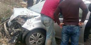 Batman Kozluk'ta maddi hasarlı kaza