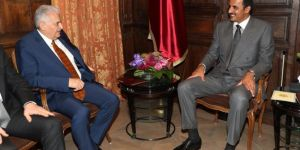 Başbakan Yıldırım Katar Emiriyle görüştü