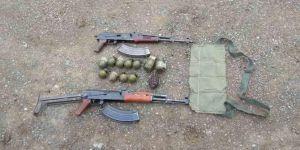 Menfezde PKK'ya ait silah ve mühimmat bulundu