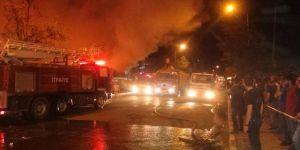 Osmaniye'de çarşıda yangın