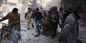 Doğu Guta'da bombardıman sürüyor