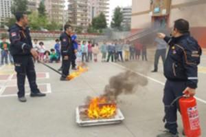 Öğrencilere yönelik deprem ve yangın tatbikatı