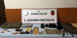 Batman'da öldürülen PKK'lilere ait çok sayıda mühimmat ele geçirildi