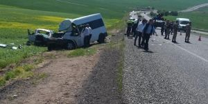 Diyarbakır-Silvan Karayolu'nda kaza: 2 ölü 13 yaralı