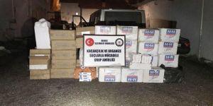Başkale'de 20 bin paket kaçak sigara ele geçirildi
