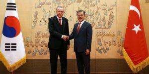 Erdoğan Güney Kore Cumhurbaşkanlığı Sarayında