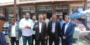 HÜDA PAR Ergani'de mağdur esnafı ziyaret etti