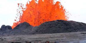 Kilauea yanardağı lav püskürtmeye devam ediyor VİDEO-FOTO