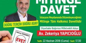 Yapicioglu dê li Diyarbekirê mîtîng tertîp bike