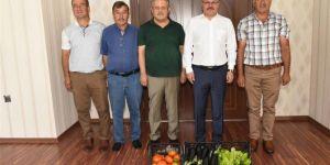 Seracılardan Batman Valisi Ahmet Deniz'e sebzeli ziyaret