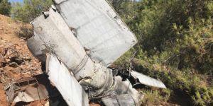 Gaziantep Nurdağı'nda rokete ait olduğu değerlendirilen enkaz bulundu