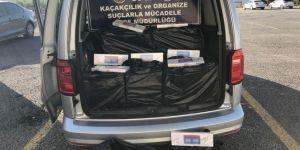 Van Edremit'te gümrük kaçağı sigara ele geçirildi