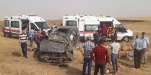 Şırnak İdil'de otomobil şarampole yuvarlandı: 7 yaralı