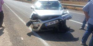 Batman Kozluk'ta maddi hasarlı trafik kazası