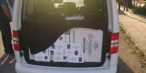 Van Gevaş'da 10 bin paket kaçak sigara ele geçirildi