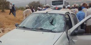 Gaziantep Nizip'te otomobil yayalara çarptı: 2 ağır yaralı