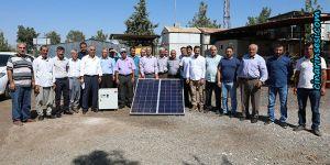 Diyarbakır'da bal üreticilerine baraka ve güneş enerjisi paneli desteği